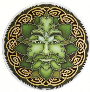 Vindus pynt, Emerald Magic Green Man sticker