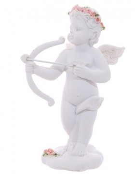 Cherub with Bow and Arrow and Roses Headband, venstre 10 cm