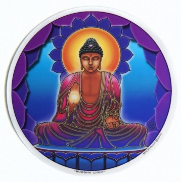 Vindus pynt, Buddha Light sticker