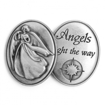 AngelStar Inspirational Token - Angels Light the Way