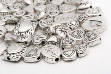Spacer Tibetan silver mix, 70 stk
