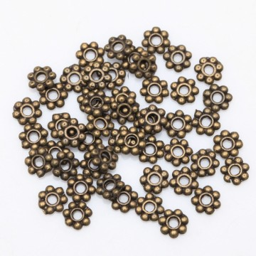 Spacer Daisy Flower, bronse, 200 stk