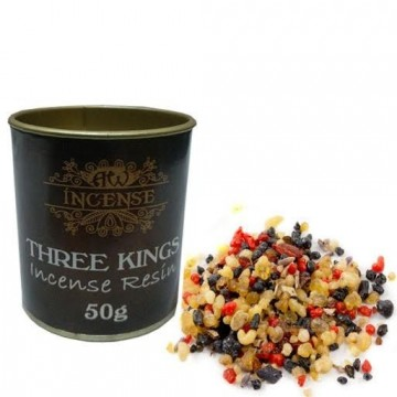 Three Kings Resin harpiks røkelse i boks, 50 gram