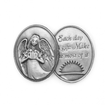 AngelStar Inspirational Token - Each days is a gift: Make the most of it