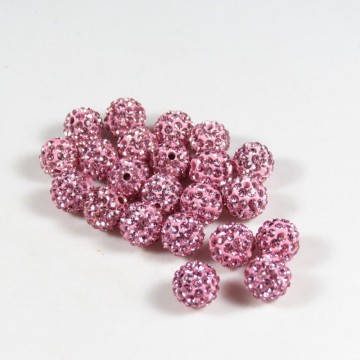 Spacer Rhinstone, Rosa, 8 mm, 20 stk