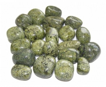 Agat, Green Lace Tromlet Medium AAA-kvalitet