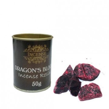 Dragons Blood Resin harpiks røkelse i boks, 50 gram