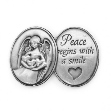 AngelStar Inspirational Token - Peace Begins With a Smile