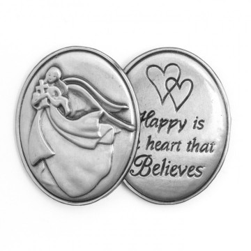 AngelStar Inspirational Token - Happy is the Heart