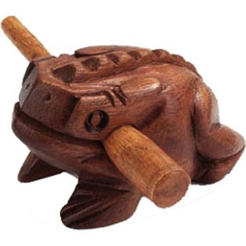 Wooden Croaking Frog Mørk Brun fra Indonesia
