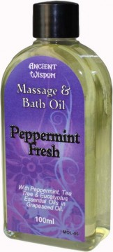 Peppermint Fresh massasjeolje, 100 ml